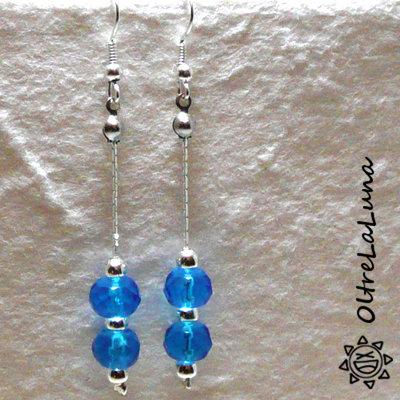 Orecchini con resine azzurre pendenti