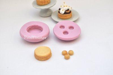 Stampo silicone stampo torta dollhouse miniatura-Torta Saint honorè al cioccolato 1cm ST075