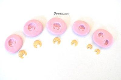 Kit stampo pane croissant miniature silicone flessibile stampo dolci dollhouse fimo gioielli charms cabochon cibo in miniatura kawaii ST094