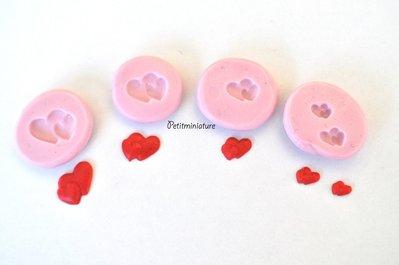 Kit stampo CUORE silicone flessibile stampo dolci dollhouse fimo gioielli charms cabochon cibo in miniatura kawaii ST092