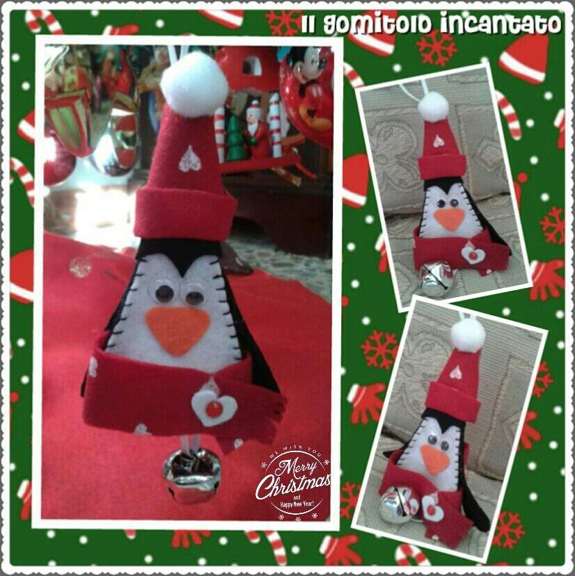 Decorazione Pinguino campanellino