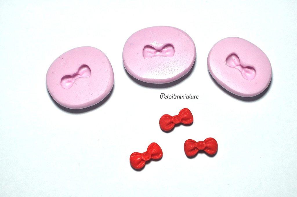STAMPO NASTRO fiocco 1cm silicone flessibile stampo dolci dollhouse fimo gioielli charms cabochon cibo in miniatura kawaii ST085