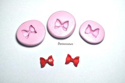 STAMPO NASTRO fiocco 1cm silicone flessibile stampo dolci dollhouse fimo gioielli charms cabochon cibo in miniatura kawaii ST084