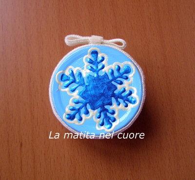 Calamita fiocco di neve azzurro