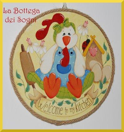 Targhetta cucina - gallina country