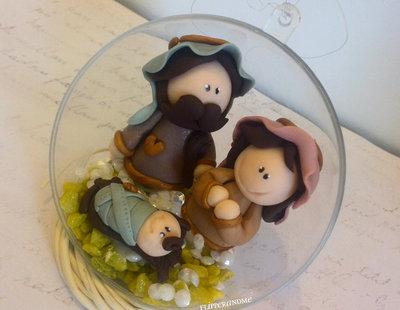 *Presepe* natività in palla natalizia - originale idea regalo Natale