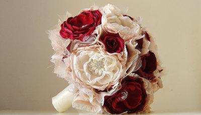 *Bouquet da sposa vintage.Bouquet in tessuto.*