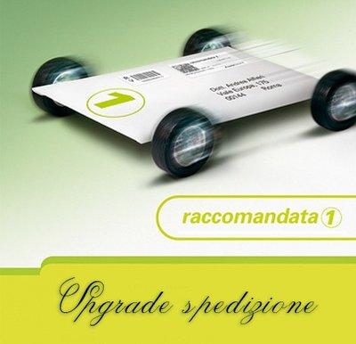 Upgrade SPEDIZIONE - raccomandata 1 con poste italiane per piccoli oggetti