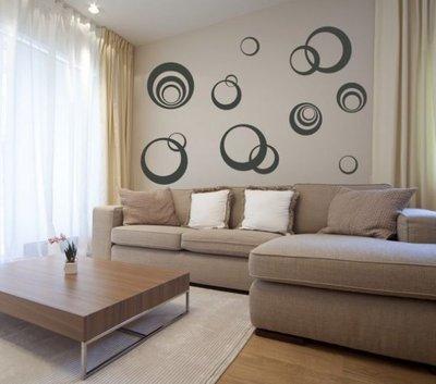 Adesivo per le pareti anelli (2661n)