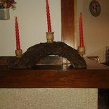 candelabro fatto di corteccia