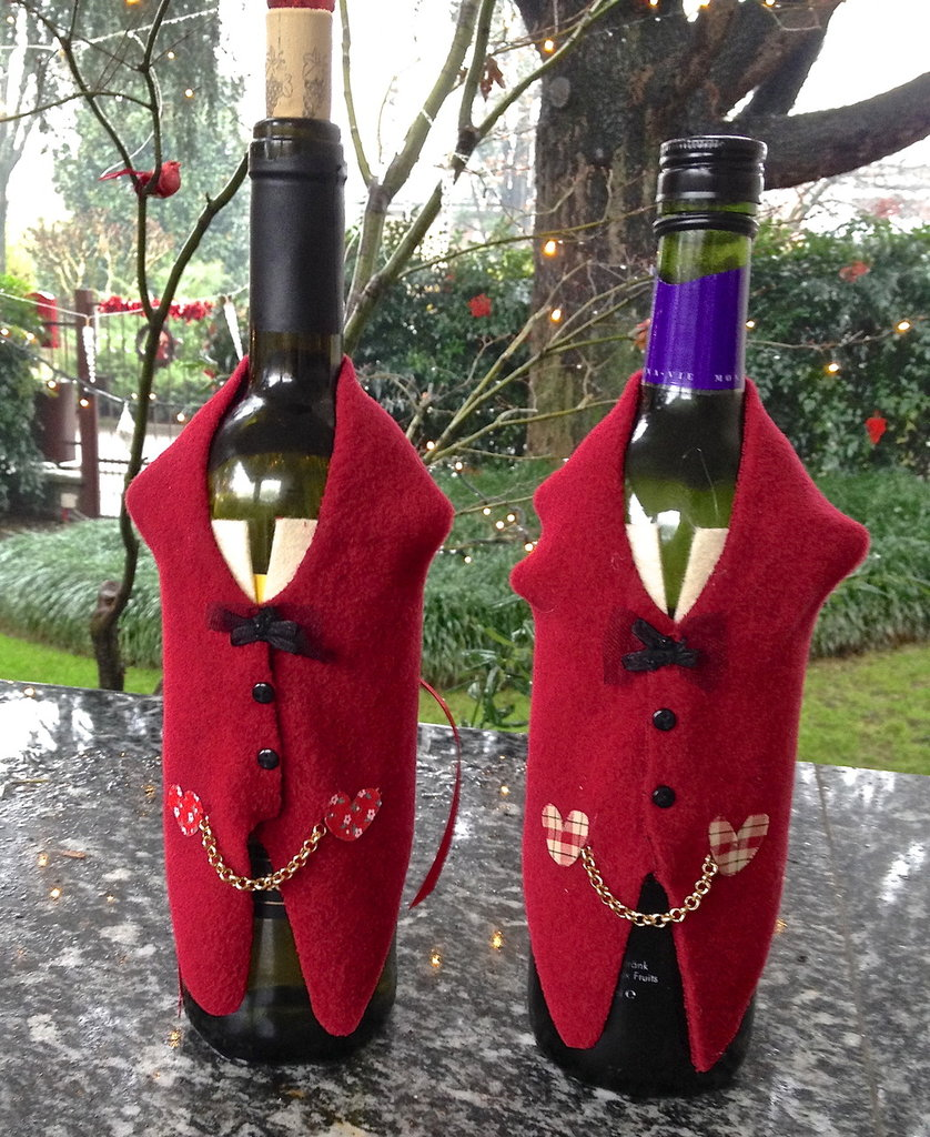 Natale - Vestitino copri bottiglia