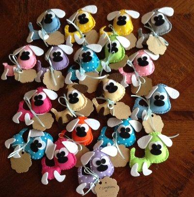 Bomboniera a forma di cagnolino ricordo nascita battesimo compleanno con tag personalizzabile
