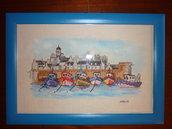 Barche al porto in punto croce