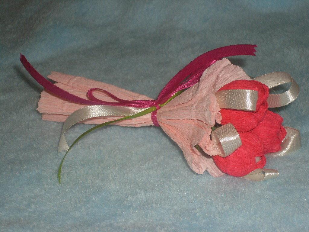 bouquet-bomboniera con confetti