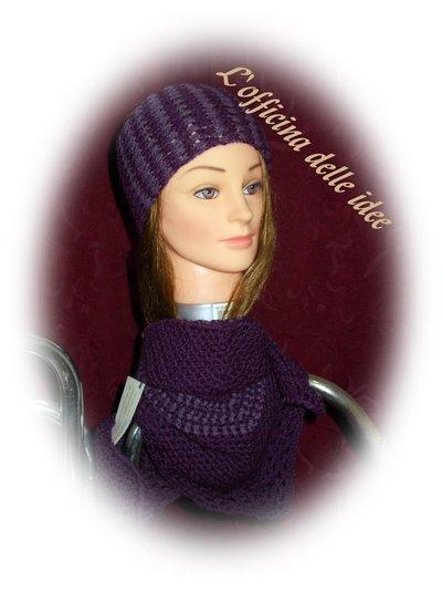 Scialle e fascia in lana