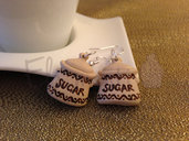 Orecchini sugar beige
