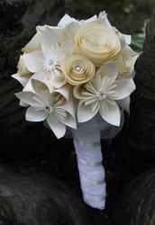 * Bouquet sposa elegante di spirale e origami.Bouquet origami*