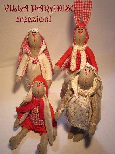 coniglietti in stoffa personalizzabili