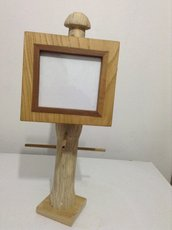 Cornice in legno bi colore