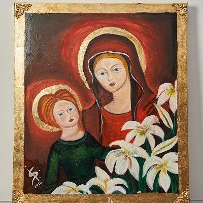 Quadro sacro Madonna con il bambino