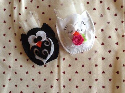 Sacchetti porta confetti gufo matrimonio sposo e sposa bomboniera