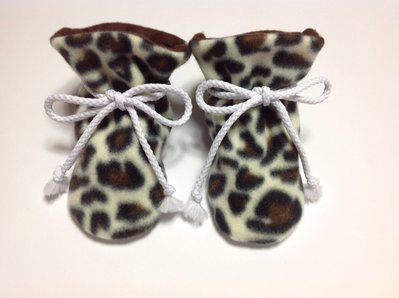Babbucce scarpine pile fantasia leopardo con suola antiscivolo - bambina 6-12 mesi