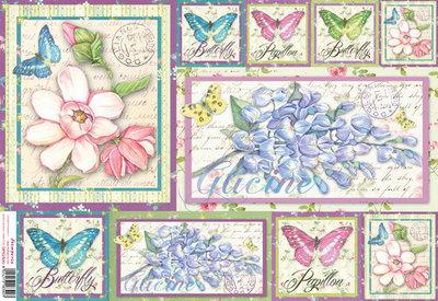 Carta di riso fiori di glicine materiali scrapbooking for Tende carta di riso