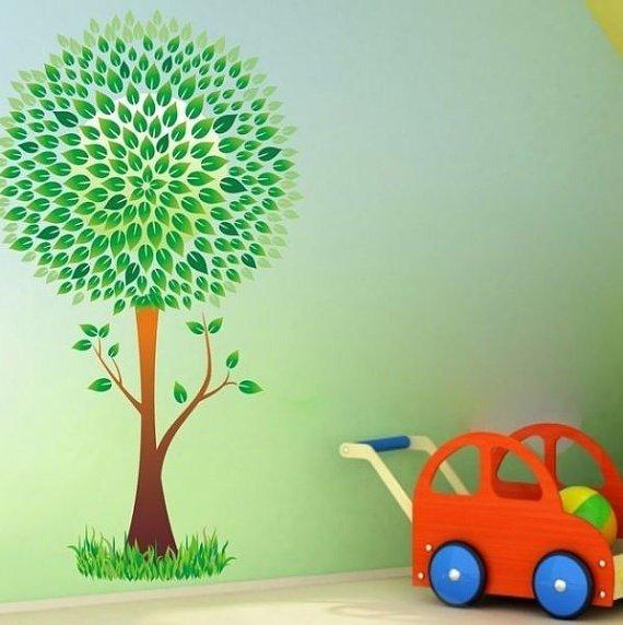 Adesivi colorati bellissimo albero (2633f)