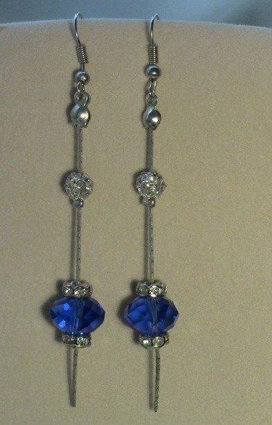 Orecchini pendenti Swarovski  briolette color blu