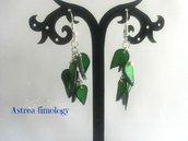 orecchini petali verdi
