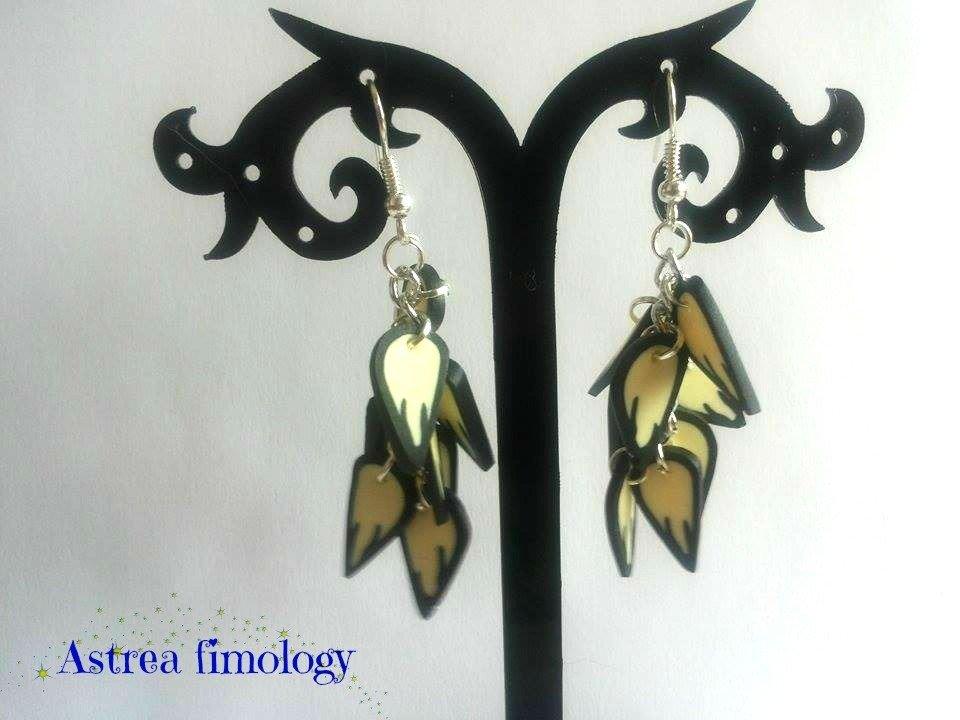 orecchini petali gialli