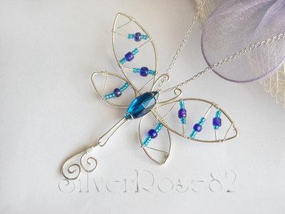 Collana Libellula Azzurra