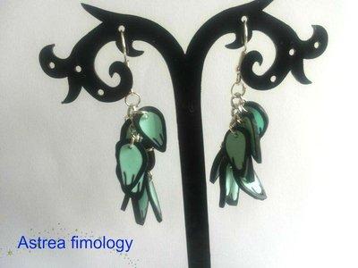 orecchini petali azzurri