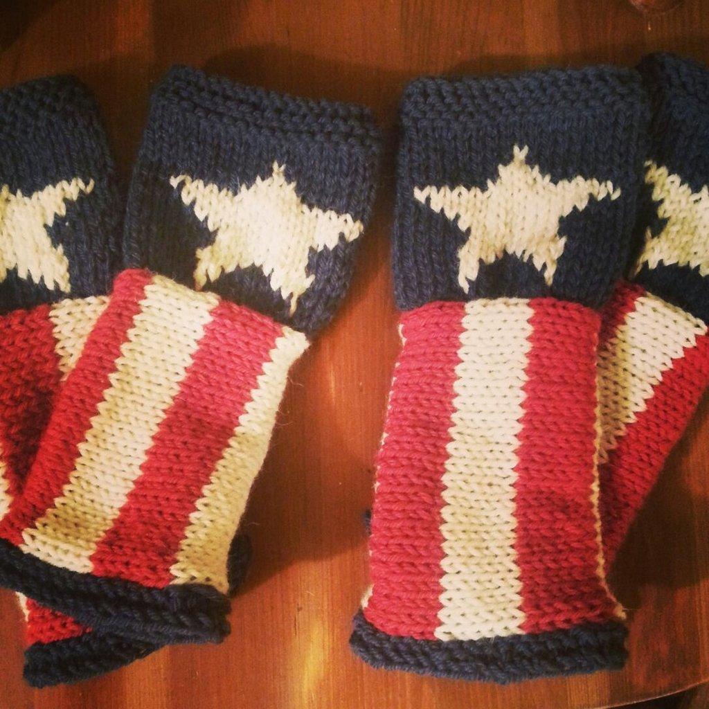 Mezzi guanti Capitan America