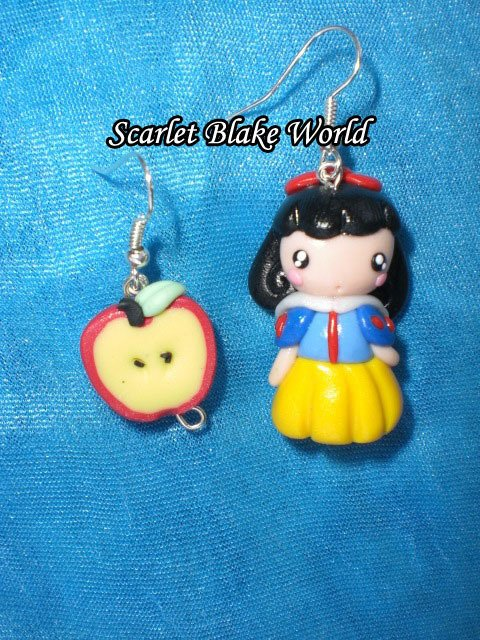 Orecchini Biancaneve e la mela