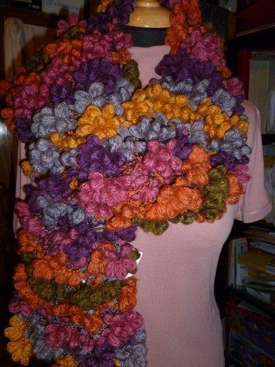 sciarpa moda lavorata ai ferri