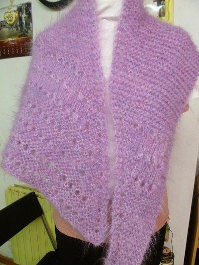 scialle rosa violetta