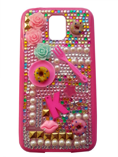 Cover Ciambelle Samsung Galaxy S5 i9600 dolci sweet donuts pink cibo food yummy