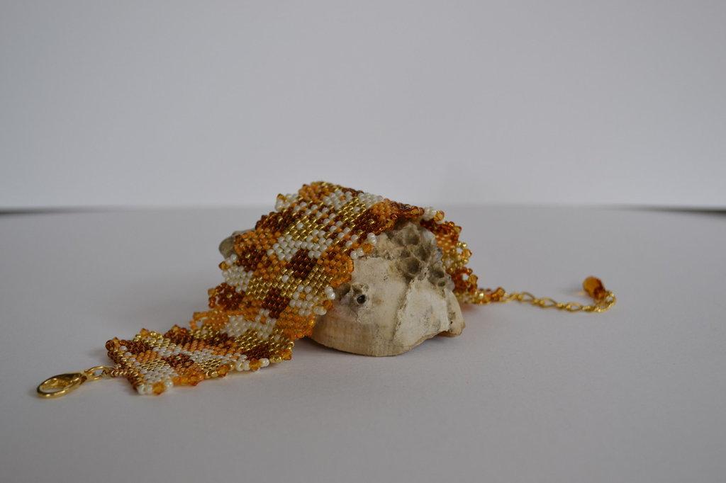 Bracciale a fascia con Perline di vetro Miyuki