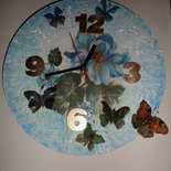 """Orologio da parete """"Volo di farfalle"""""""