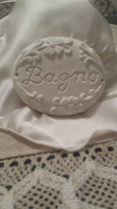 Blasone in polvere ceramica Bagno