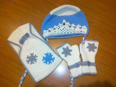 Set berretto + guanti + scaldacollo Frozen