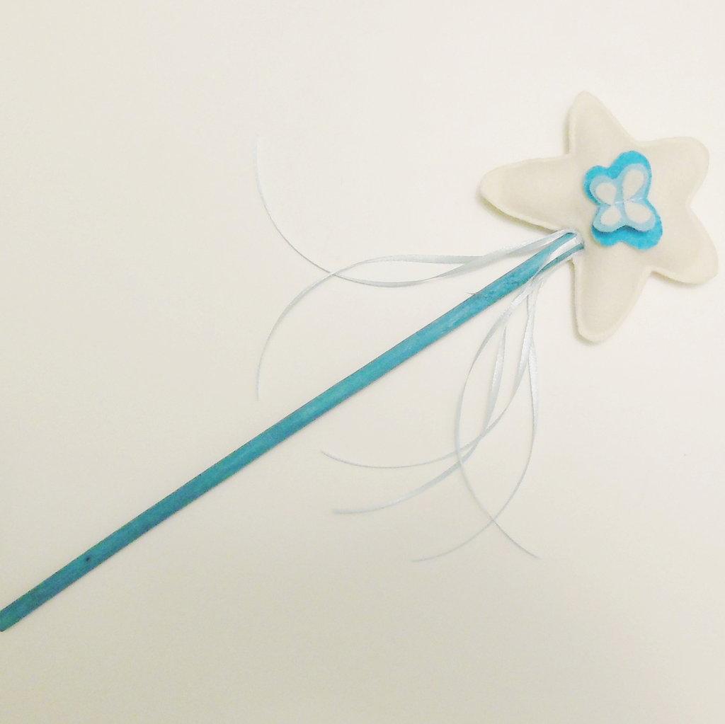 Bacchette di feltro: per principessa o magiche fatine, rosa, bianche, azzurre o totalmente personalizzabili per voi!