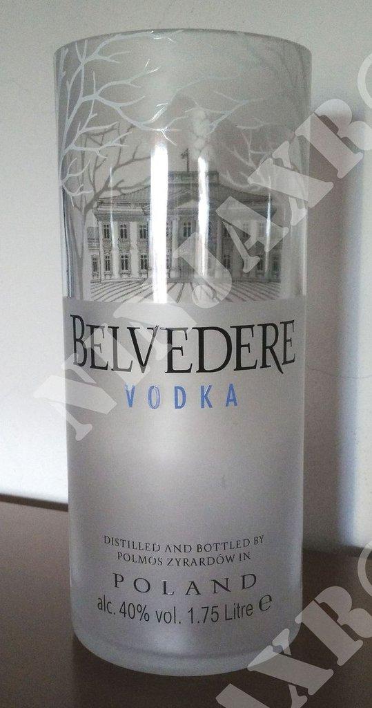 Vaso ottenuto da Bottiglia Vodka Belvedere Magnum 1,75 L