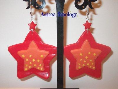 orecchini stelle rosse