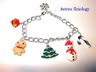 bracciale con ciondoli natalizi