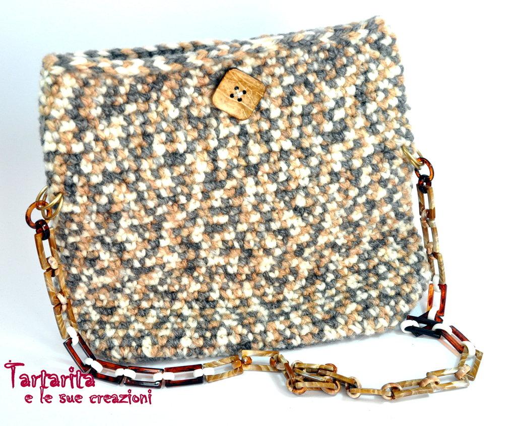 Borsa bustina in morbida fettucia tipo lana