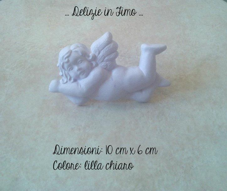 Gessi profumati in polvere di ceramica Angelo color lilla e bianco