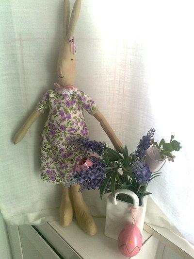 Simpatica coniglietta , idea regalo ,o decoro casa
