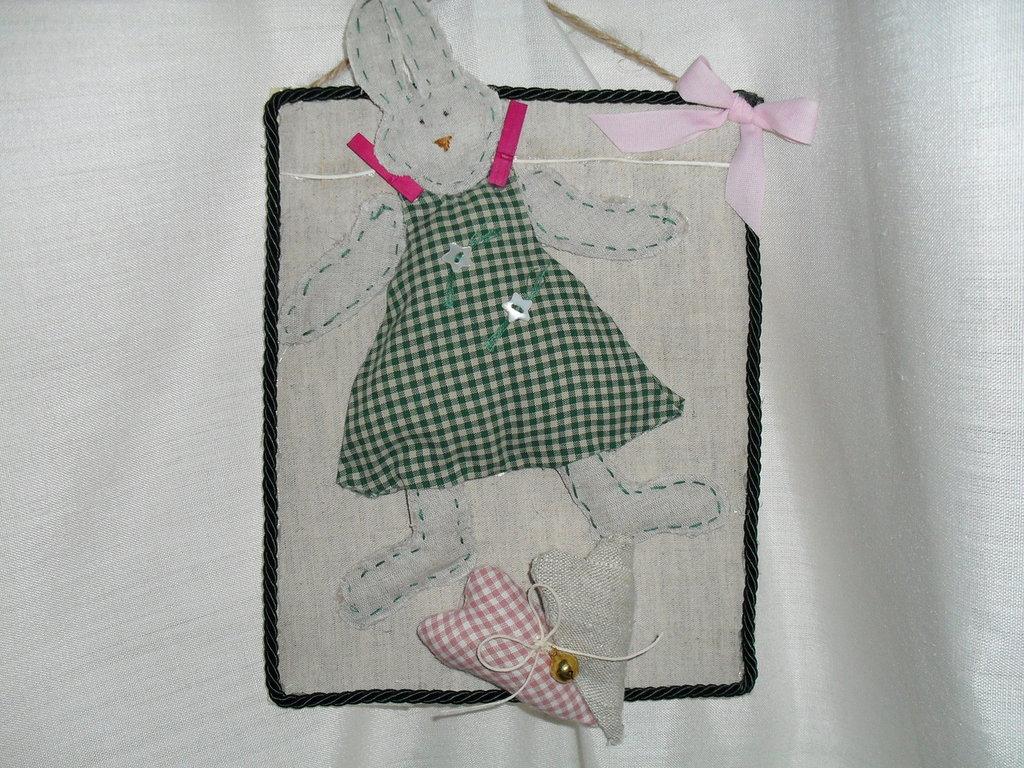Originale coniglio per evento nascita,o addobbo cameretta.